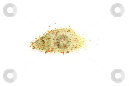 Special mixture of spices for soups stock photo, Close up on a heap of special mixture of spices for soups by Olivia Neacsu