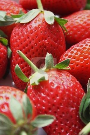 Strawberries stock photo, Closeup of strawberries by Keri Bevan