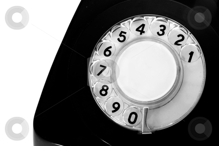 Antiquated phone stock photo, Number of an antiquated phone display by ikostudio
