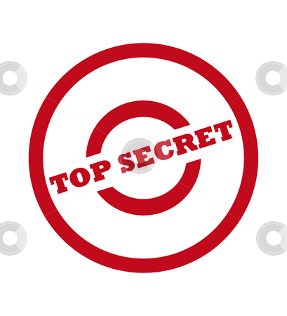 Top Secret Stamp stock photo, Top secret stamp in red circle, isolated on white background. by Martin Crowdy