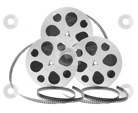 Film Reels stock photo, Film Reels on White Background by Lai Leng Yiap