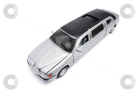 Miniature Stretch Limousine stock photo, Miniature Stretch Limousine on White Background by Lai Leng Yiap