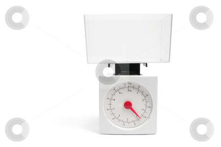 Kitchen Scale stock photo, Kitchen Scale on White Background by Lai Leng Yiap