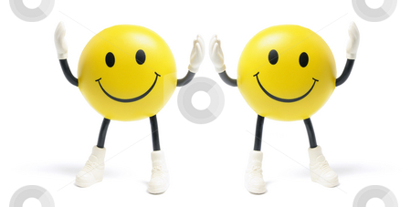 Smiley Toys stock photo, Smiley Toys on Isolated White Background by Lai Leng Yiap