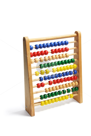 Toy Abacus stock photo, Toy Abacus on Isolated White Background by Lai Leng Yiap