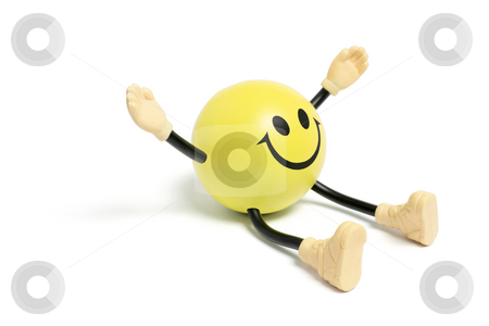 Smiley Toy stock photo, Smiley Toy on White Background by Lai Leng Yiap