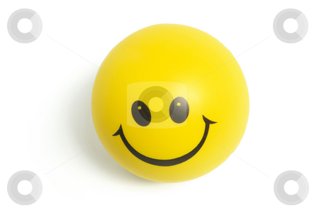 Smiley Ball stock photo, Smiley Ball on Isolated White Background by Lai Leng Yiap