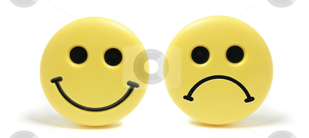 Smiley Fridge Magnets stock photo, Smiley Fridge Magnets on White Background by Lai Leng Yiap