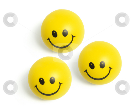 Smiley Balls stock photo, Smiley Balls on Isolated White Background by Lai Leng Yiap