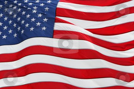 America the great stock photo, Full frame shot of the US flag flying by Johann Helgason