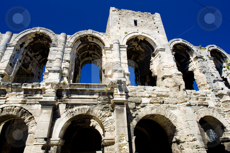 Arles, Provence, France stock photo, Roman Amphitheatre, Arles, Provence, France by Richard Semik