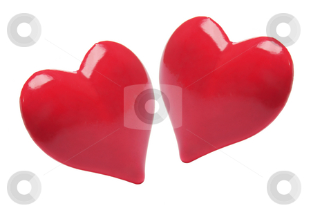 Red Love Hearts  stock photo, Red Love Hearts on White Background by Lai Leng Yiap