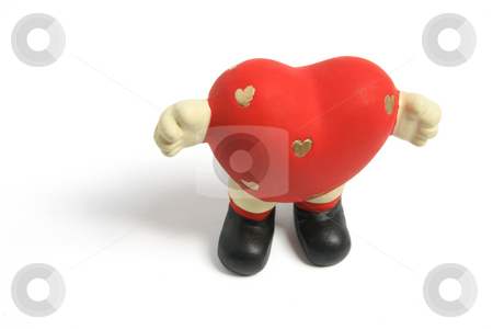 Love Heart Figurine stock photo, Love Heart Figurine on White Background by Lai Leng Yiap