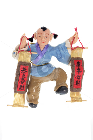 Chinese Figurine stock photo, Chinese Figurine on White Background by Lai Leng Yiap