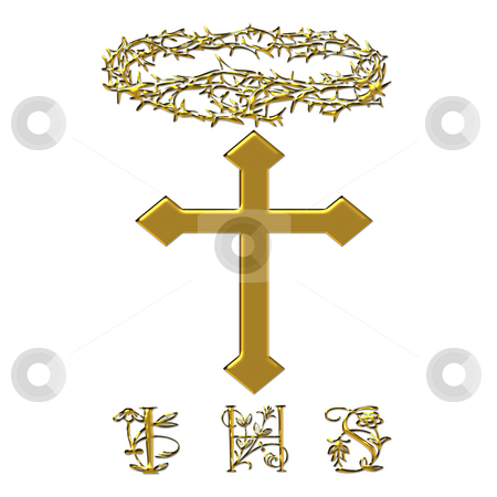 Religious Easter stock photo, I have sufferd cross and crown of thorns by CHERYL LAFOND
