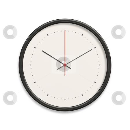 Clock stock photo, An illustration of a big white clock by Markus Gann