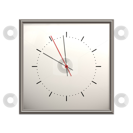 Clock stock photo, An illustration of a big square clock by Markus Gann