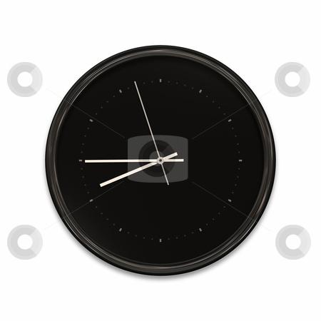 Clock stock photo, An illustration of a big black clock by Markus Gann