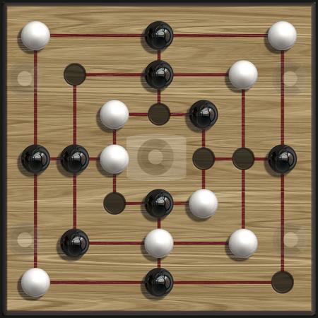 Muehle stock photo, An illustration of a nine men?s morris game by Markus Gann