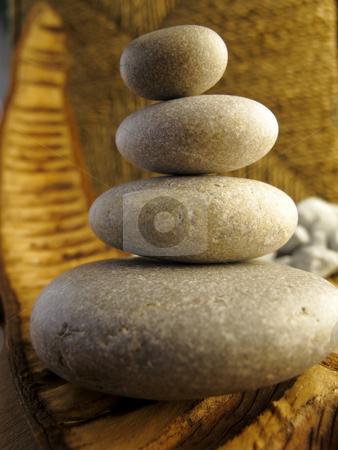 Rocks stock photo, Rocks at balance like decorative element at home by Carlos Sanchez