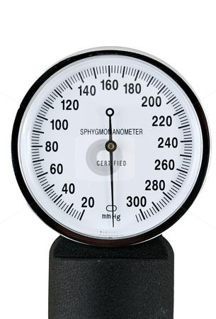 Sphygmomanometer stock photo, A sphygmomanometer for taking blood pressure by Jim Mills