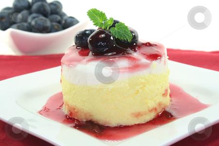 Vanilla-lemon dessert stock photo, Vanilla-lemon dessert with fruit sorbet by Marén Wischnewski