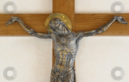 Crucifixion stock photo, Jesus crucified on the cross by Zvonimir Atletic