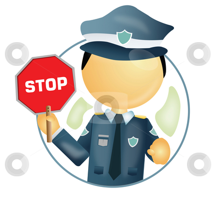 Traffic police stock photo, Traffic police with a stop sign board in hand by Abhishek Poddar