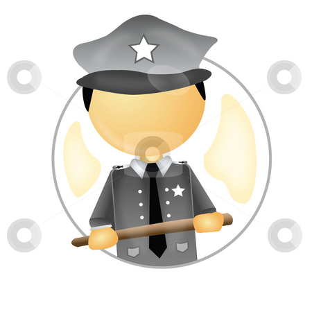 Police officer stock photo, A police officer with a stick in hand by Abhishek Poddar