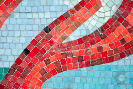 Arty mosaic stock photo, A image of a colorful arty mosaic by Alexander L?