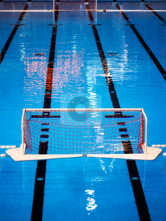 Water polo pool stock photo, SIght on the water polo pool. by Sinisa Botas
