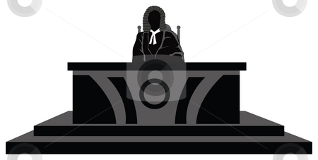Judge stock photo, View of a judge at his desk in court, decision maker by Abhishek Poddar
