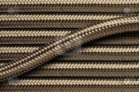 Flexible stainless steel piping tubes stock photo, Flexible metallic stainless steel piping tubes by J.R. Bale