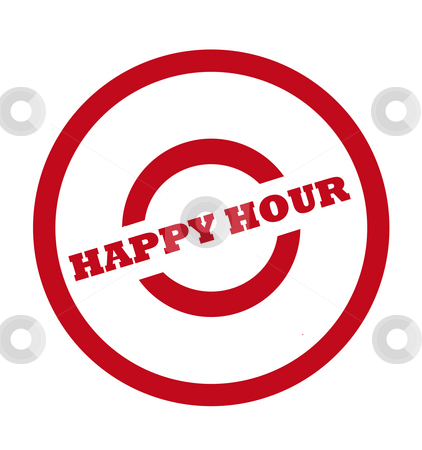 Happy hour stamp stock photo, Happy hour stamp in red circle, isolated on white background. by Martin Crowdy
