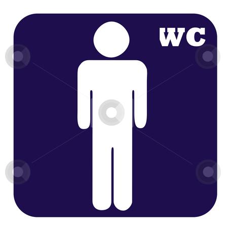 Men toilet button stock photo, Gentlemen or men toilet button isolated on white background. by Martin Crowdy