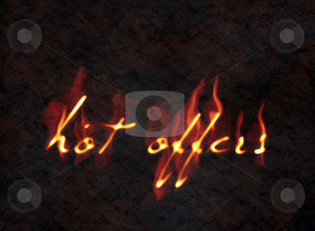 Hot offers stock photo, An illustration of a hot offers sign in fire by Markus Gann