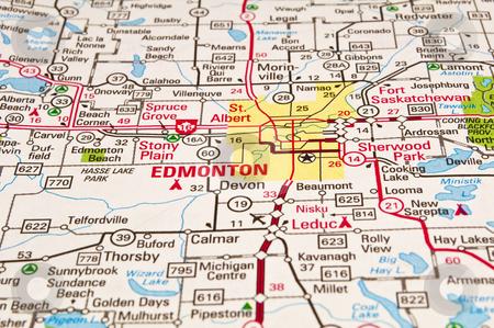 City map Edmonton PDF Canada