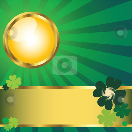 St. Patrick stock photo, Card for St. Patrick's Day by Richard Laschon