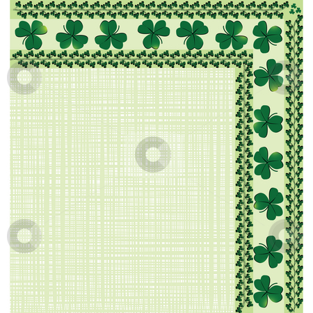 Border with clover stock photo, Corner border with clovers for your design by Richard Laschon