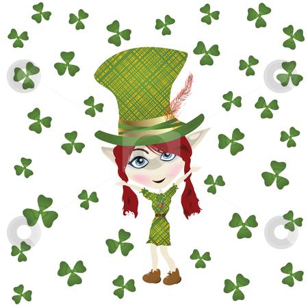 St Patrick' Day stock photo, Pointed ear leperchaun celebrating St Patrick' Day by Richard Laschon
