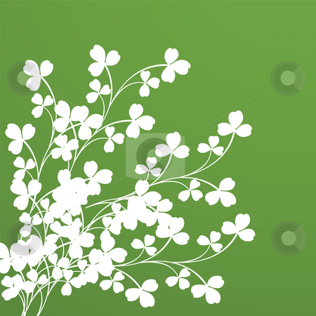 Clover foliage stock photo, Clover foliage. Background for design by Richard Laschon