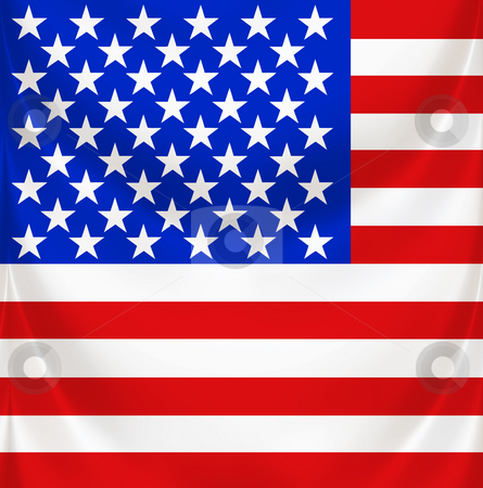 Stars and stripes square draped stock photo, 3d texture of national flag of america waving by Wino Evertz