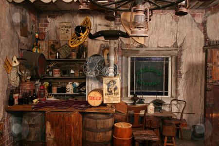 Wild West Interior Stock Photo