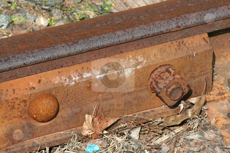 Rusty Train track macro stock photo, A rusty Train track macro by Jim Mills