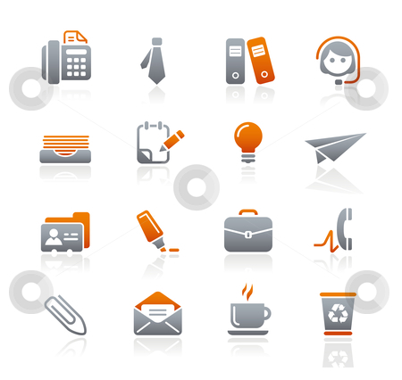 Office  stock vector clipart, Professional icons for your website or presentation. -eps8 file format- by Diego Alies