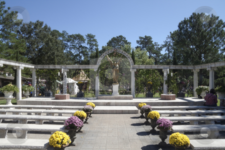 Outdoor Chaple stock photo, A outdoor wedding chapel surrounded by columns by Kevin Tietz