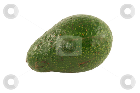Isolated avocado on a white background stock photo, A Isolated avocado on a white background by Jim Mills