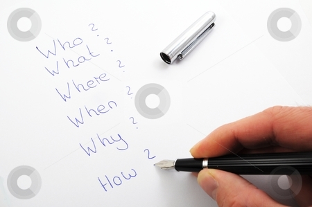 Questions stock photo, Questions like who what where when why and how by Gunnar Pippel
