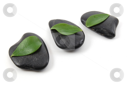 Stones isolated on white background stock photo, Zen stones isolated on a white background by Gunnar Pippel