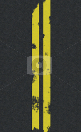 Double yellow line road background stock photo, Double yellow line road background by Jim Mills